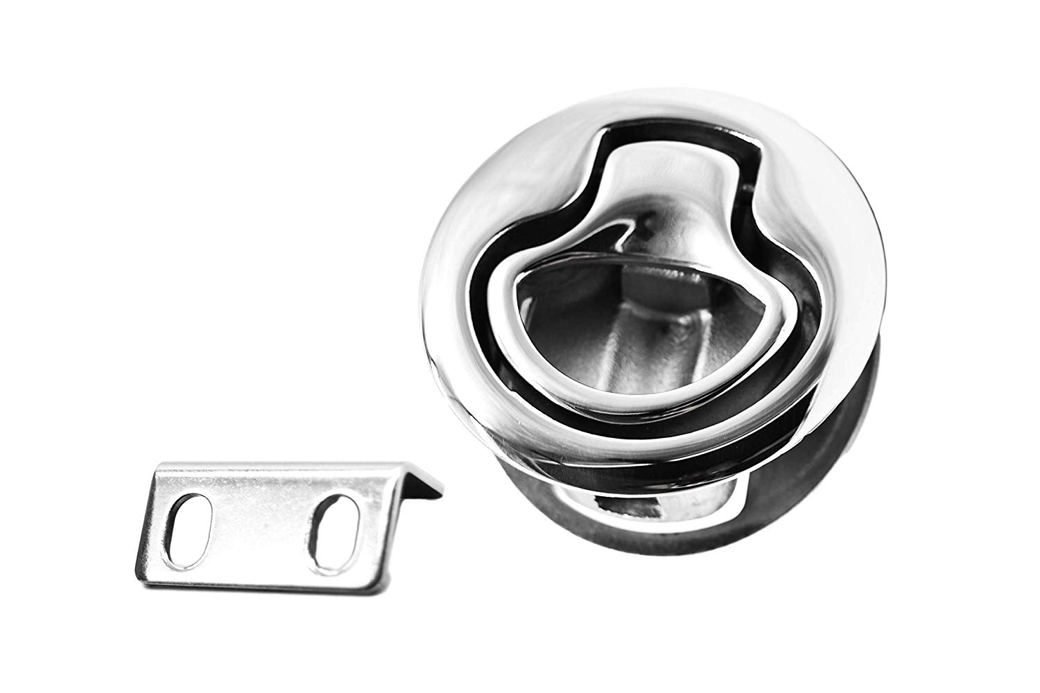 Round Hatch Flush Pull Slam Latch for Doors - marinecityhardware.com