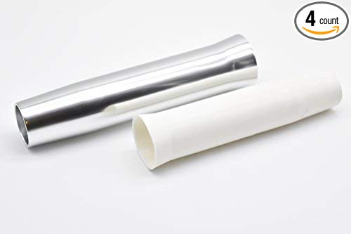 "Marine City Aluminum Flared White Vinyl Insert Weld-On Rod Holder L: 10"" Dia.:1-7/8"" (4PCS)"