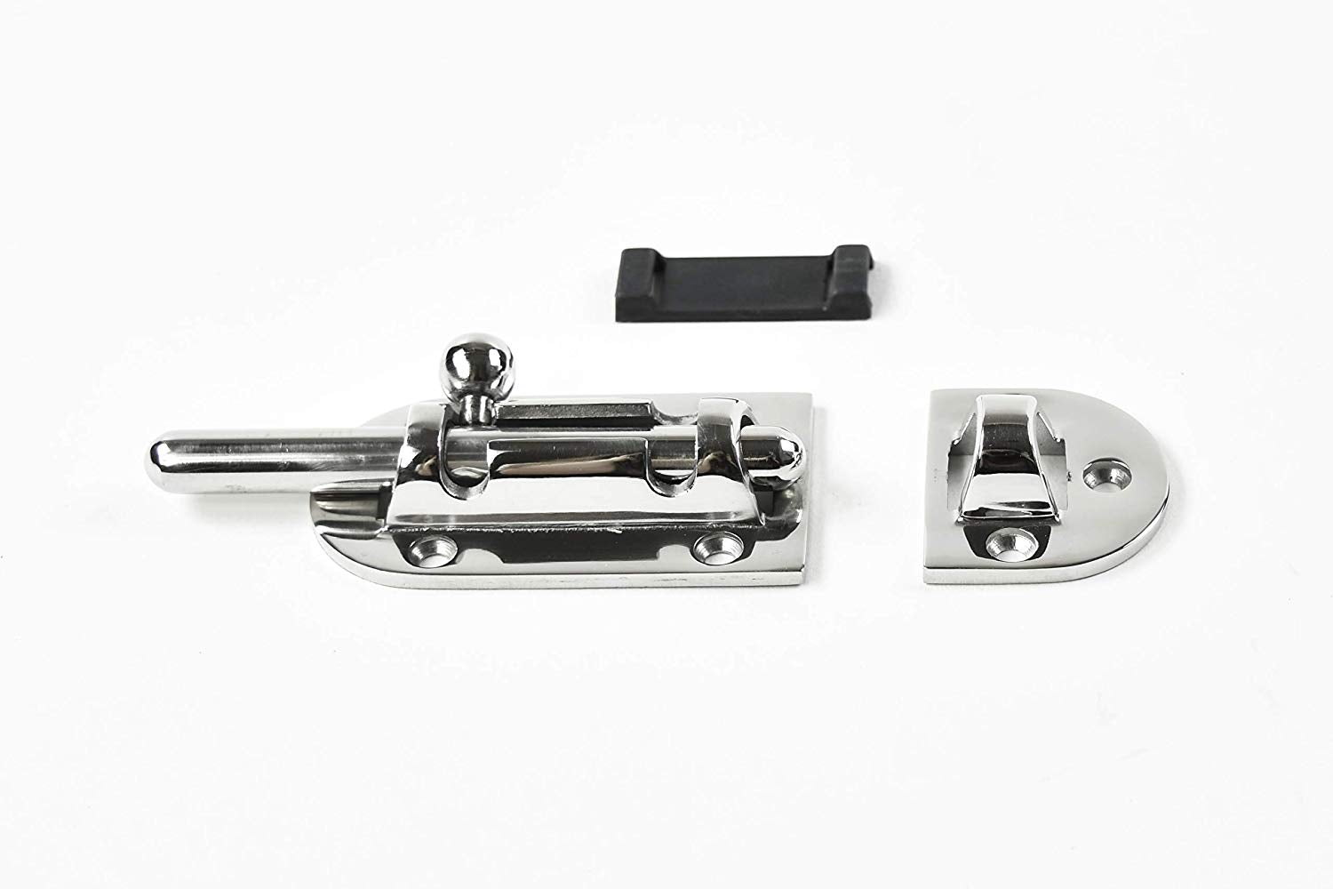 "Marine City Boat Stainless Steel 316 Heavy-Duty Barrel Bolt Door Latches/Lock 6 Point Fixing (Size: 4-1/4"" × 1-1/2"")"
