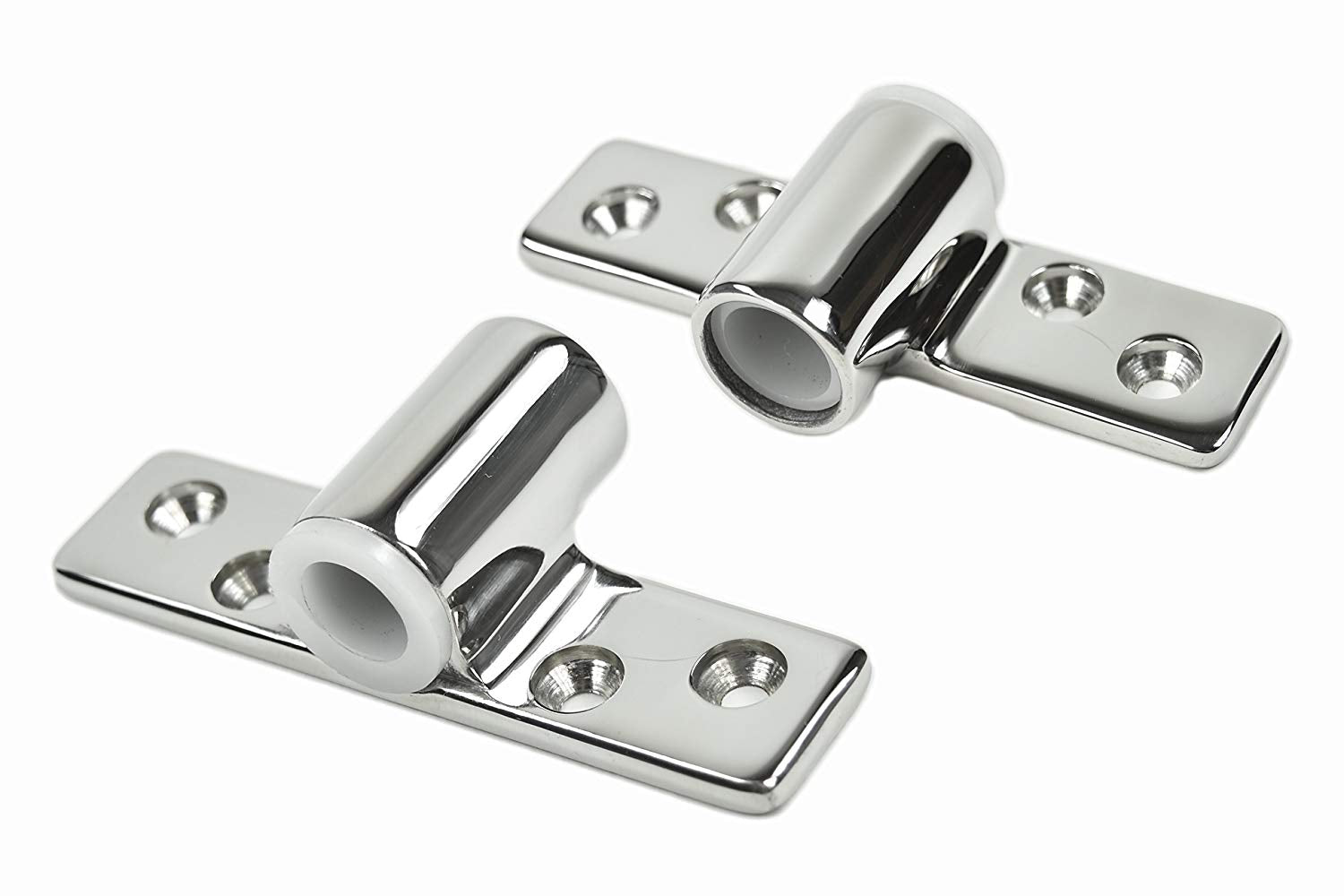 "Marine City A Pair 316 Stainless-Steel 1/2"" Shank Side Mount Rowlock/Oarlock Socket (2pcs)"