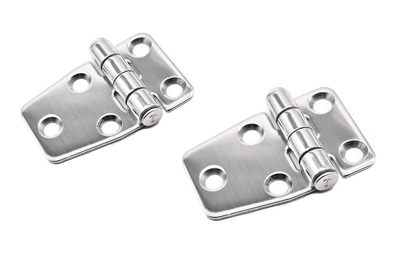 "Marine City A Pair Stainless Steel 2.2"" ×1.5"" Short Sided Strap Hinges"