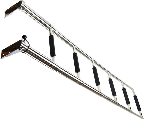 MARINE CITY Stainless Steel Marine Telescoping Drop Heavy Duty 6 Step Swim Ladder