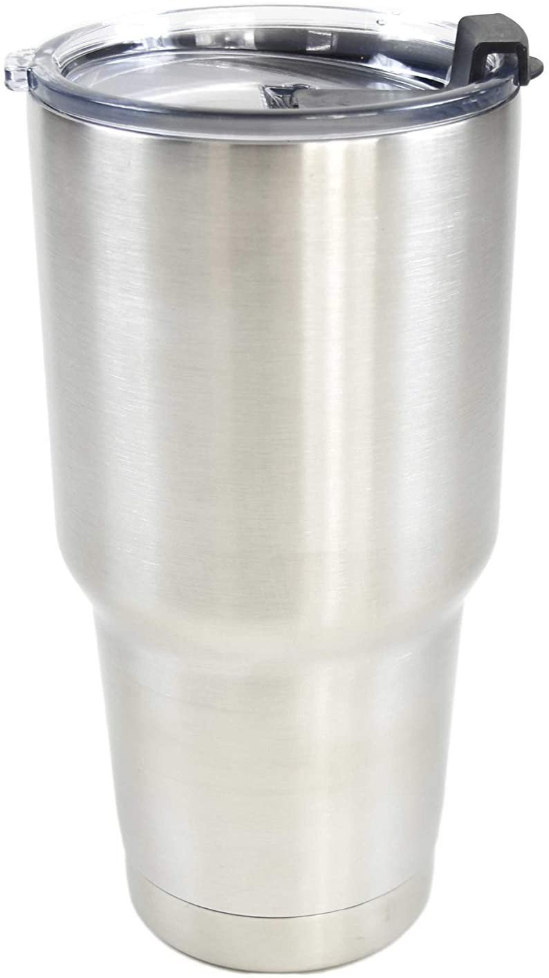 Marine City Sliver Stainless-Steel Double-wall Vacuum Insulated Tumbler/Mug - 30 oz. Keep Cold 24hrs&Hot 6hrs