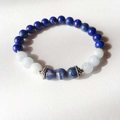 The Throat Chakra - Genuine Lapis Lazuli, Blue
