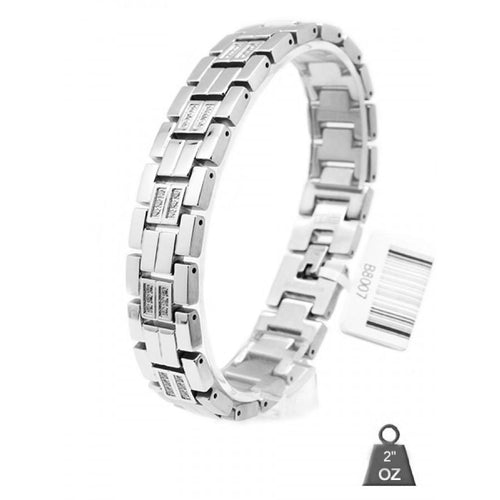 Men's Stainless Steel bracelet with CZ