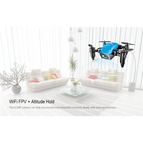 Mini Drone With HD Camera HD S9 | Quad-copter Altitude Hold Helicopter