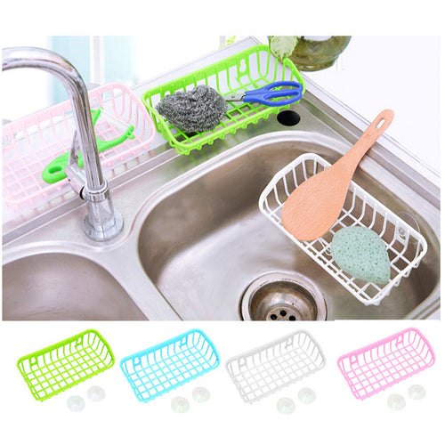 Double Suction Cup Kitchen Drainage Shelf