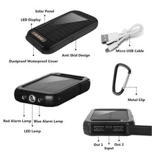 Load image into Gallery viewer, Solar Power Cell Phone Charger | Water Proof | USB Connect