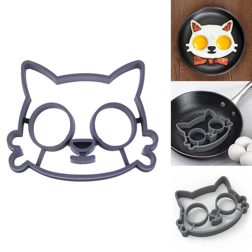 Kitchen Silicone Cat Egg Shaper Cat Fried Eggs