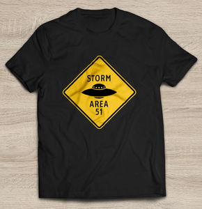 Storm Area 51 9/20 T-Shirt | Sign with UFO Tank Top