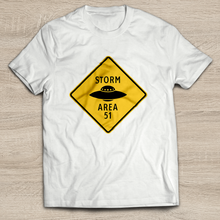 Load image into Gallery viewer, Storm Area 51 9/20 T-Shirt | Sign with UFO Tank Top