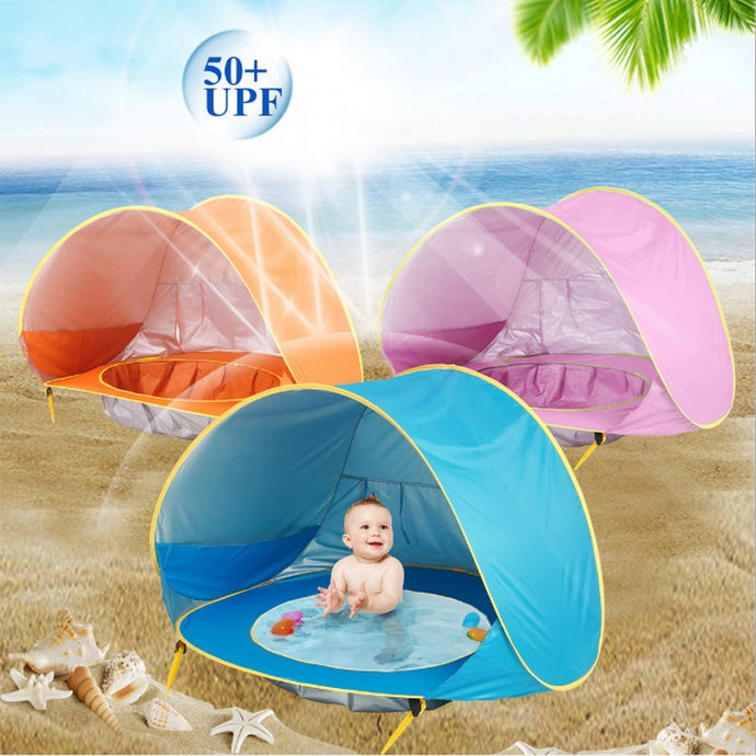 Baby beach tent | UV-Protecting Sun Shelter with a Pool 50+ UPF
