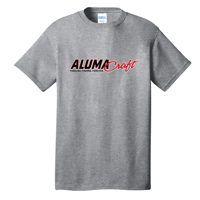 Mens Alumacraft Evinrude Co-Branded Tee - Athletic Grey