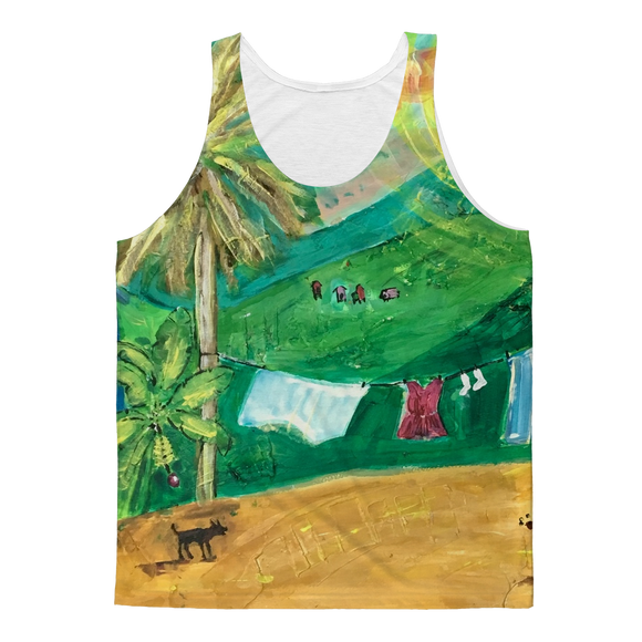 Yolanda Padial - Tendiendo la ropa al sol Classic Sublimation Adult Tank Top