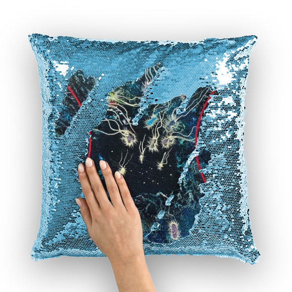 NEVAREZ - ORIGEN VIDA II Sequin Cushion Cover