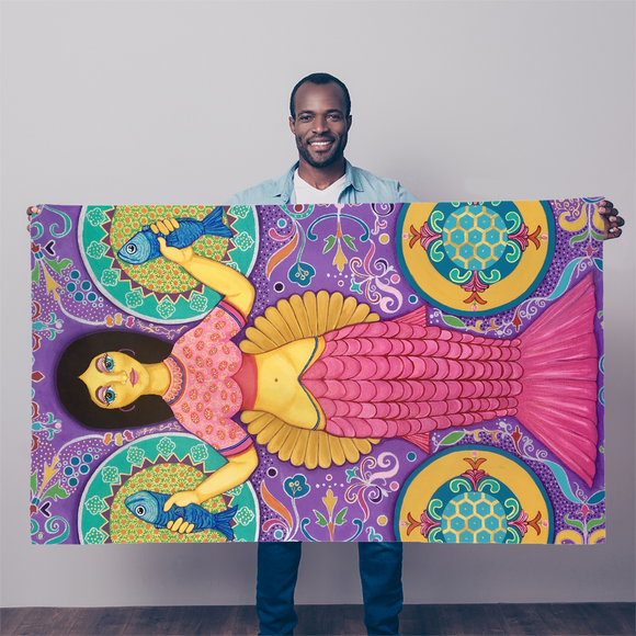 SPANISH MERMAID Sublimation Flag