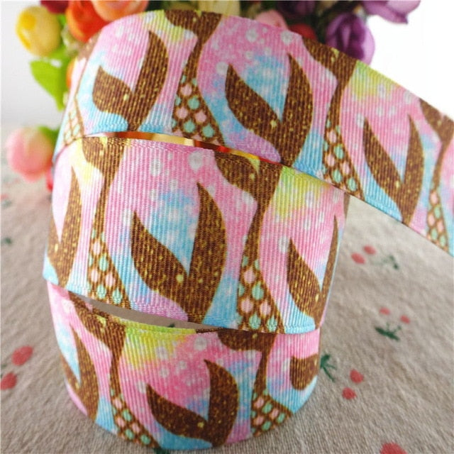 Mermaid fish tail grosgrain ribbons 1