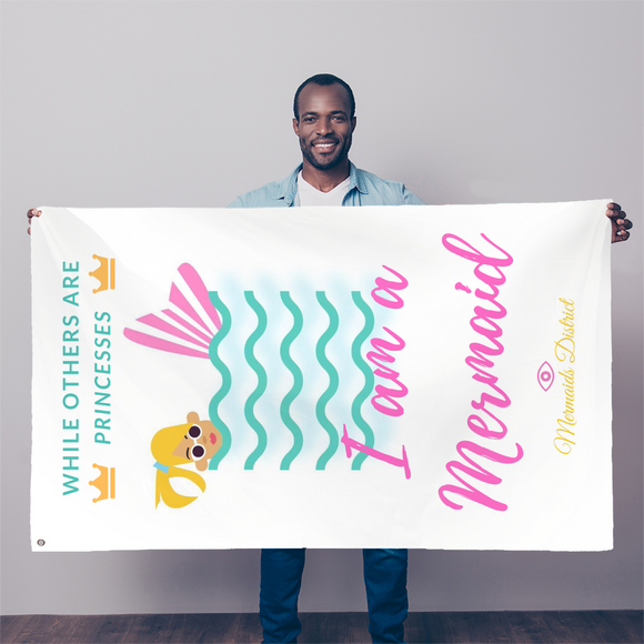 I am a Mermaid (1) Sublimation Flag