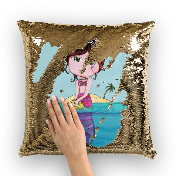 ANDREA MERMAID Sequin Cushion Cover