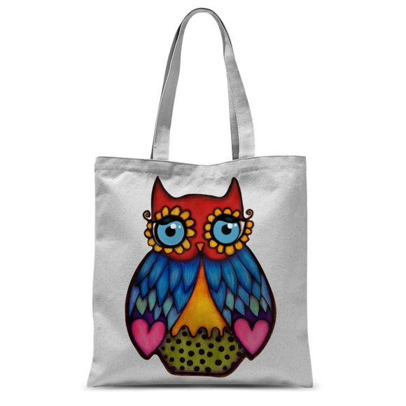 DAISY OWL Classic Sublimation Tote Bag