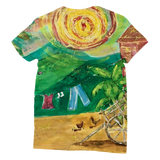 Yolanda Padial - Tendiendo la ropa al sol Classic Sublimation Women's T-Shirt