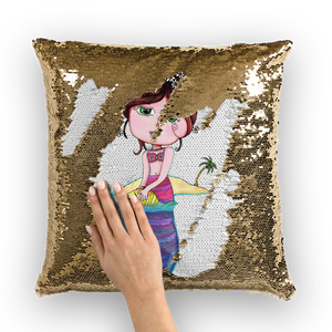 ANDREA SIRENA Sequin Cushion Cover