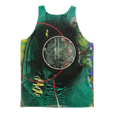 COMPOSICION MICROSCOPICA EN VERDE Y AZUL Classic Sublimation Adult Tank Top