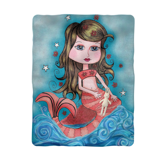 CORAL MERMAID Sublimation Baby Blanket
