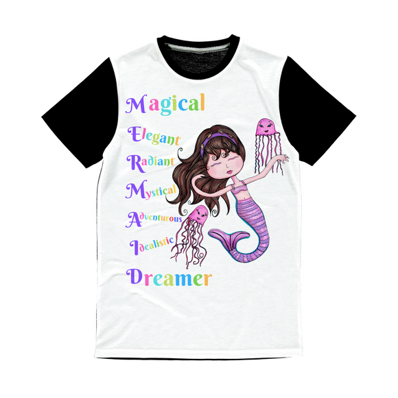 MAGICAL ELEGANT Classic Sublimation Panel T-Shirt