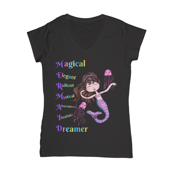 MAGICAL ELEGANT Classic Women's V-Neck T-Shirt