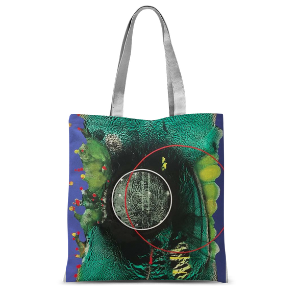 COMPOSICION MICROSCOPICA EN VERDE Y AZUL Classic Sublimation Tote Bag