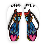Owl you_  Adult Flip Flops
