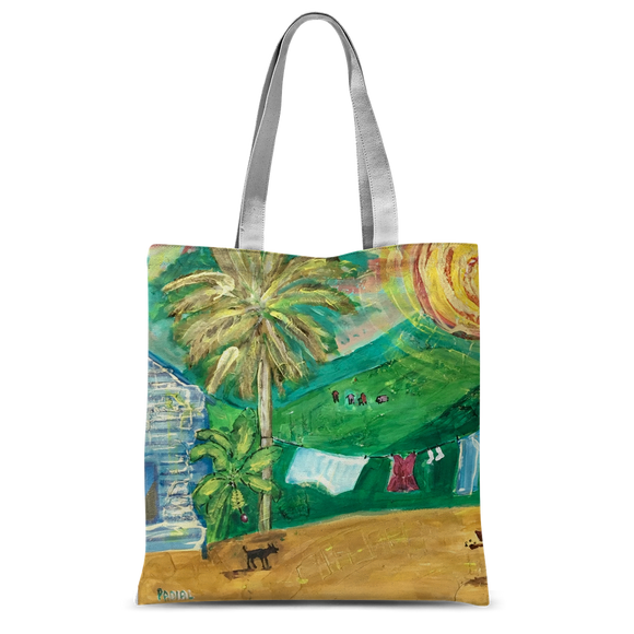 Yolanda Padial - Tendiendo la ropa al sol Classic Sublimation Tote Bag