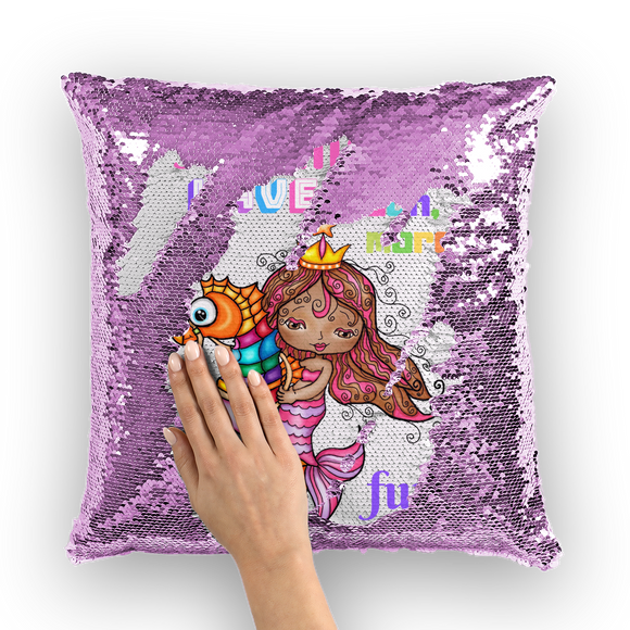 MERMAIDS HAVE MUCH MORE FUN Sequin Cushion Cover
