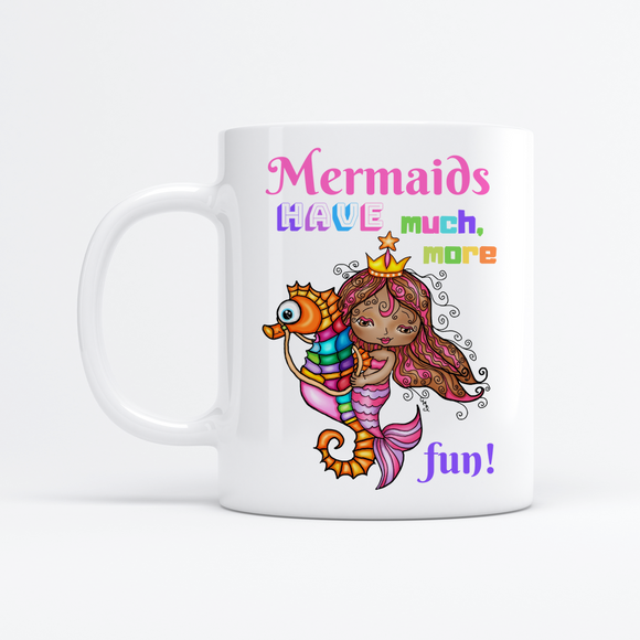 MERMAIDS HAVE MUCH MORE FUN 11oz Mug - 2 Pieces Pack TESTING