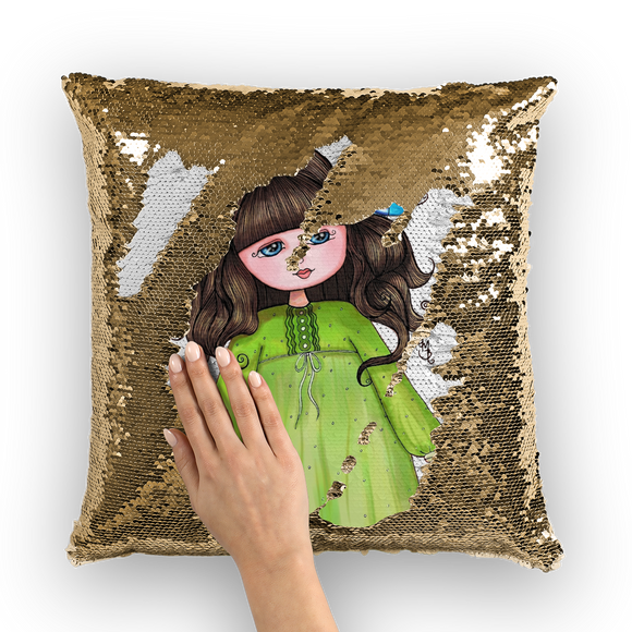 CAMILA GRACIOUS GRACIES Sequin Cushion Cover