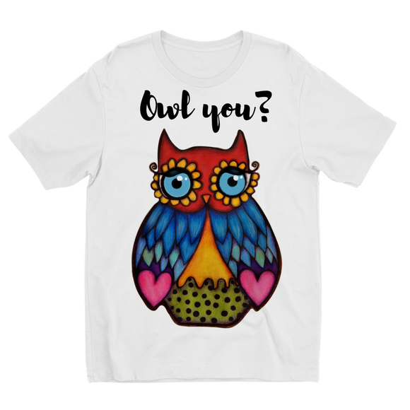 Owl you_  Sublimation Kids T-Shirt