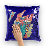 PUERTO RICO MERMAID Sequin Cushion Cover