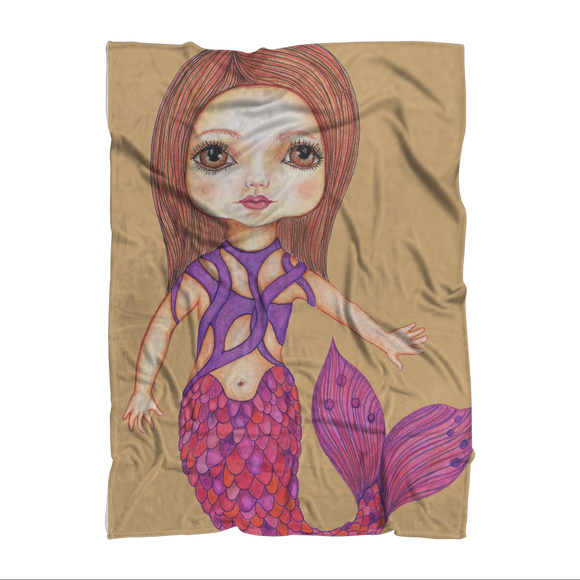 JULIA MERMAID Sublimation Adult Blanket