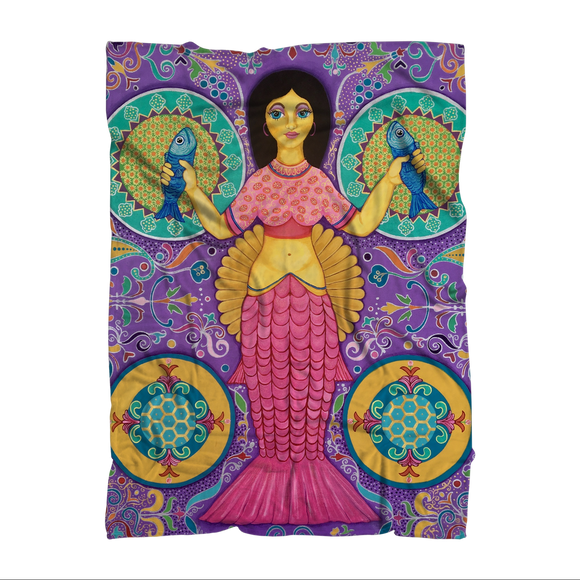 SPANISH MERMAID Sublimation Adult Blanket