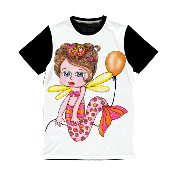 NELLY SIRENA Classic Sublimation Panel T-Shirt