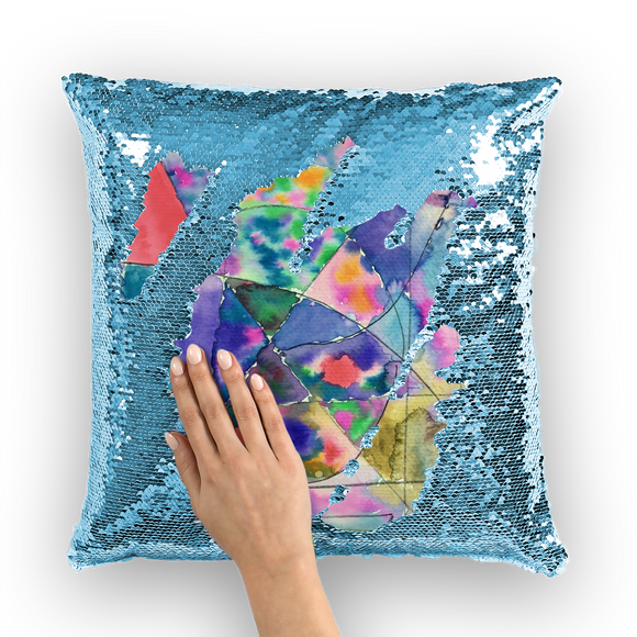 Dorado Kid 1 Sequin Cushion Cover