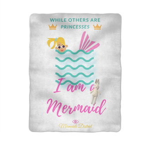 I am a Mermaid (1) Sublimation Baby Blanket