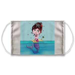 ANDREA MERMAID Gracious Gracie's Collection Sublimation Face Mask