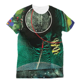 COMPOSICION MICROSCOPICA EN VERDE Y AZUL Classic Sublimation Women's T-Shirt
