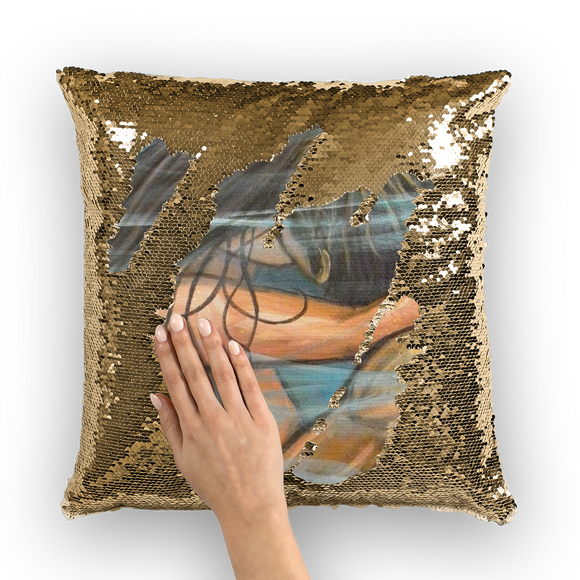 WET KISS Sequin Cushion Cover