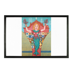PUERTO RICO MERMAID Sublimation Doormat