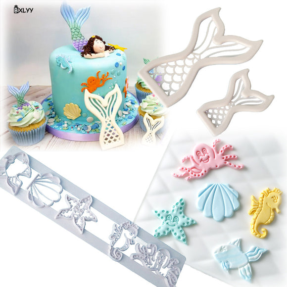 Mermaid Fishtail Plastic Cut Mold