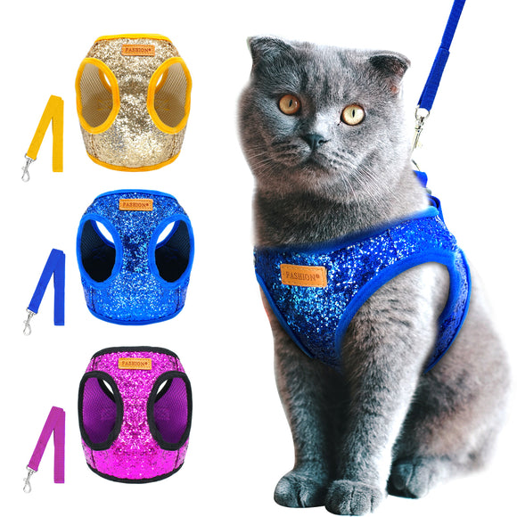 Bling Sequins Pet Harness and Leash