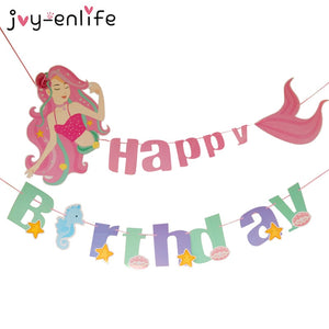 Happy Birthday Mermaid Banner